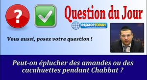 Peut-on éplucher des amandes ou des cacahuètes pendant Chabbat ?