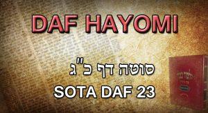 Daf Hayomi – Sota : page 23