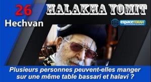 Plusieurs personnes peuvent-elles manger sur une même table bassari et halavi ?