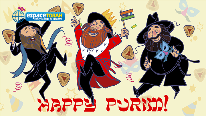 Happy hasids dance and injoy Purim
