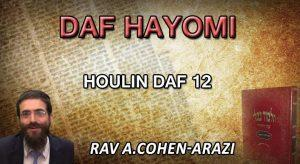 Daf Hayomi – Houlin : page 12