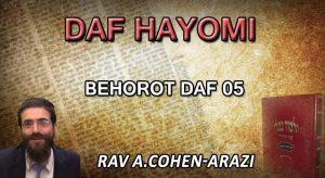 Daf Hayomi – Behorot : page 05