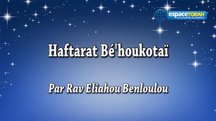 Haftarat Béhoukotaï